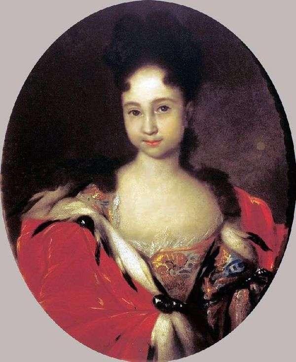 Peter 1   Ivan Nikitinの娘、Anna Petrovnaの肖像