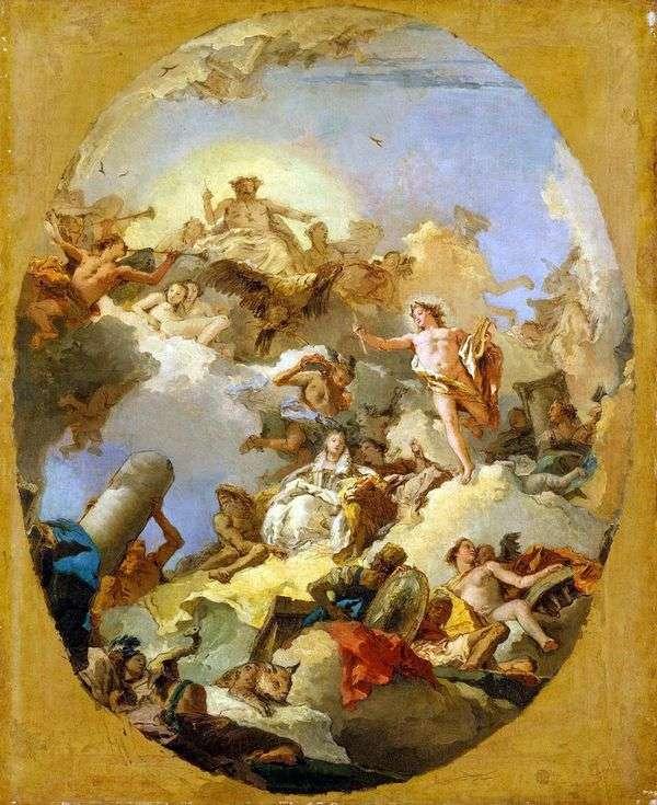 スペイン君主制の神格化   Giovanni Battista Tiepolo