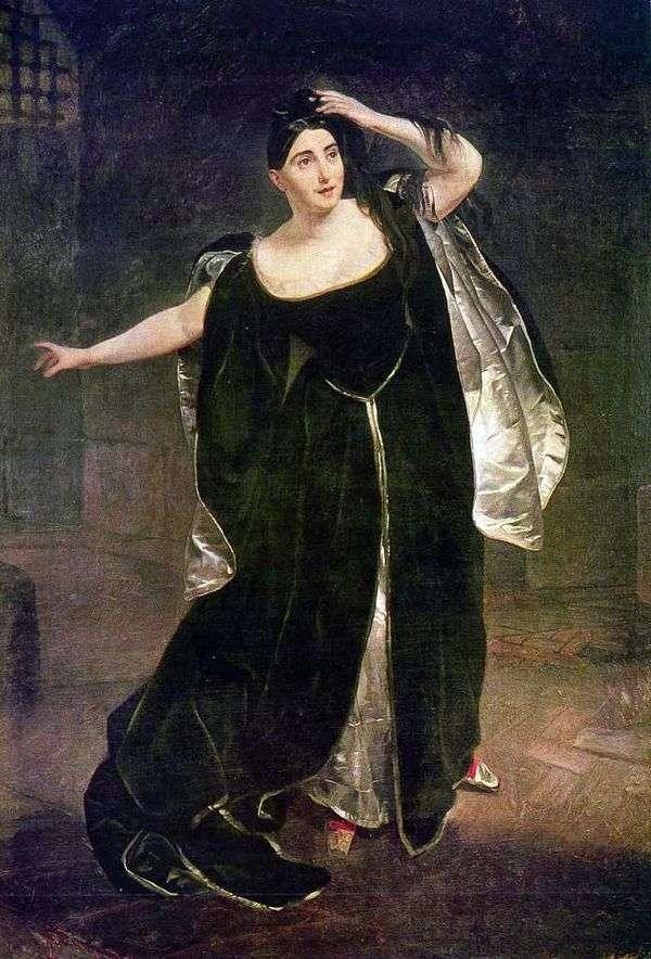 Judith Pasta   Karl Bryullovの肖像画