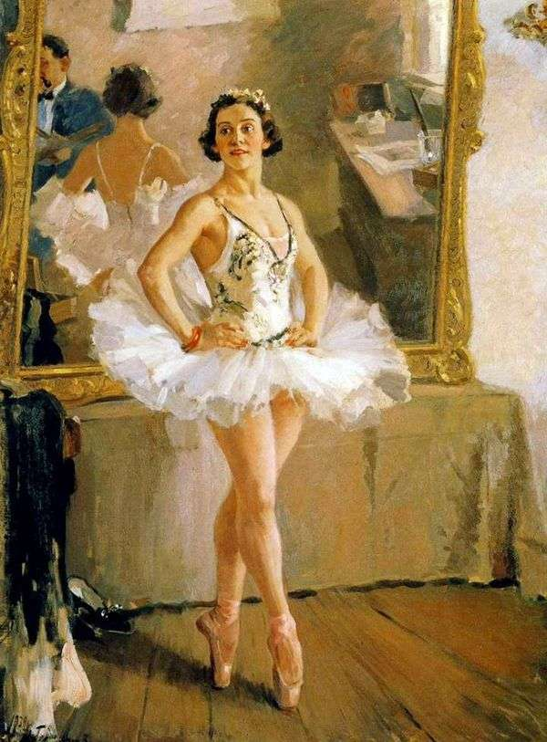 バレリーナO. V. Lepeshinskaya   Alexander Gerasimovの肖像
