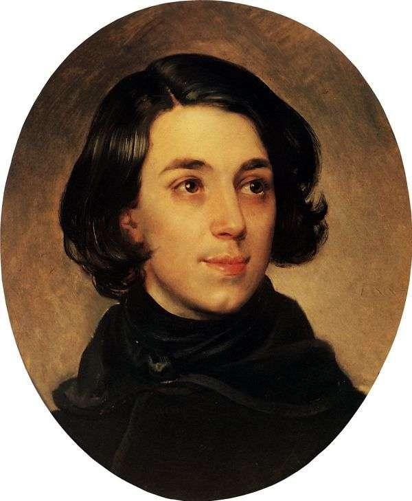 I. A. Monighetti   Karl Bryullovの肖像画