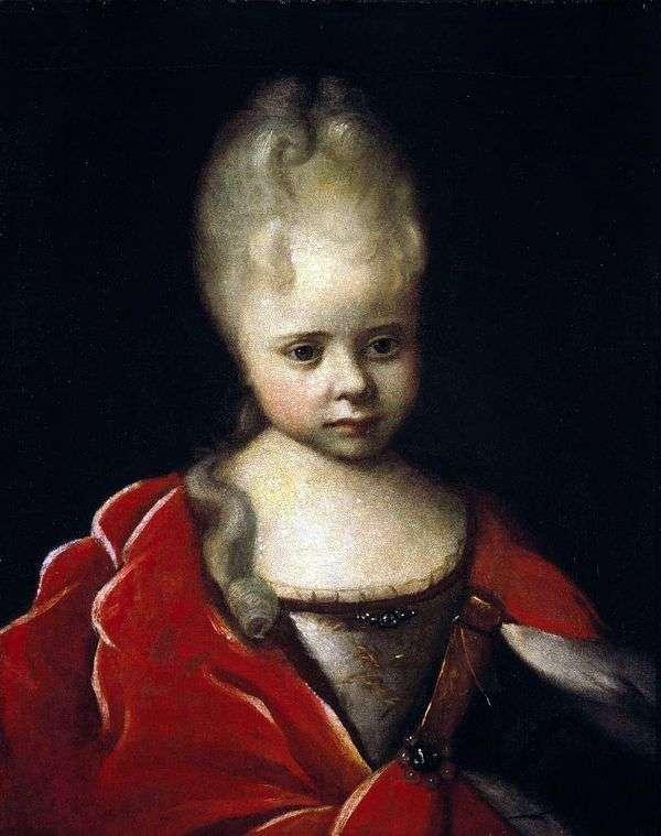 子供としてのエリザベスペトロヴナの肖像   Ivan Nikitin