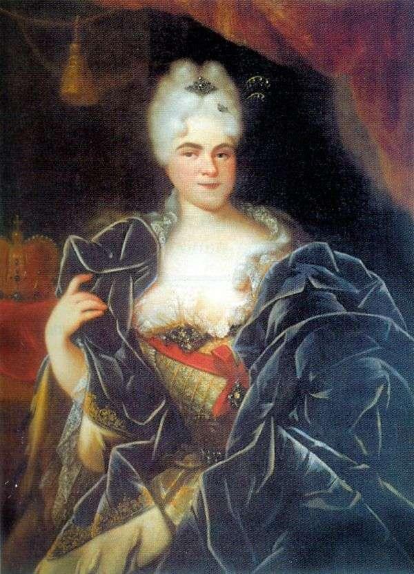 皇后妃キャサリン1世の肖像   Ivan Nikitin