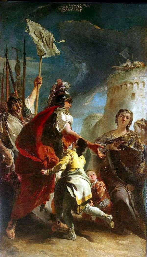 ローマ   Giovanni Battista Tiepoloの壁の下のCoriolanus