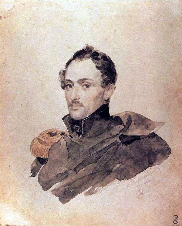 キャプテンB. Kostecki   Karl Bryullovの肖像