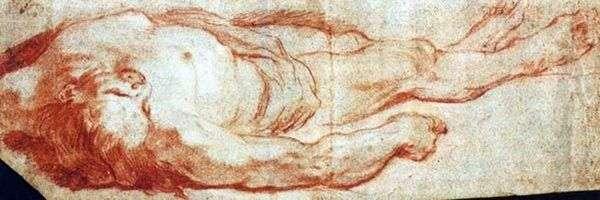 地面に横たわっている男   Giovanni Battista Tiepolo