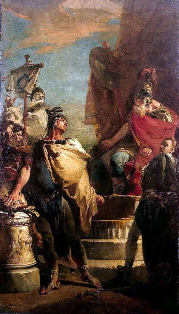PorsennaキャンプのMuzio Scovola   Giovanni Battista Tiepolo