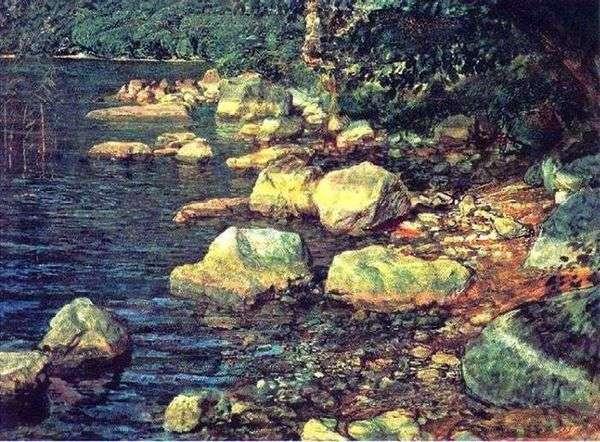 水とフィレンツェの近くのPalazzuoloの下の石   アレクサンドル・イワノフ