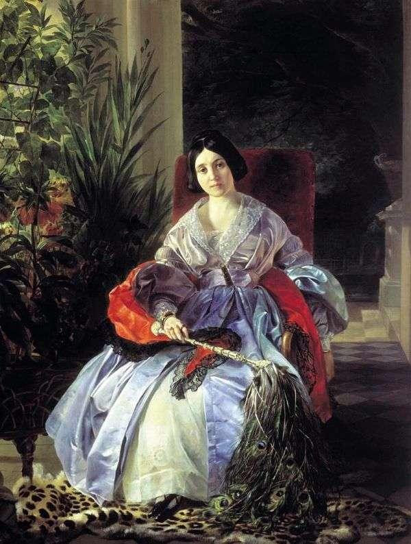 サルティコヴァプリンセスE. P. の肖像   Karl Bryullov