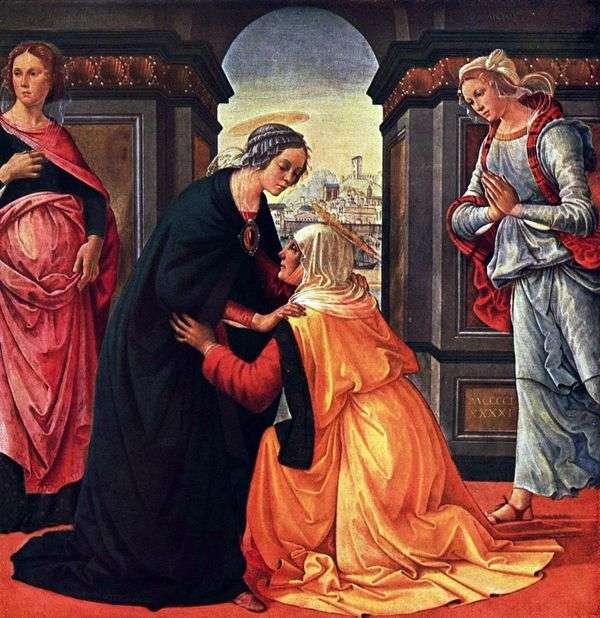 メアリーとエリザベスのミーティング   Domenico Ghirlandaio