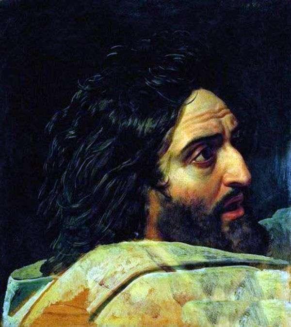 洗礼者ヨハネのイメージ。写真の断片   アレクサンドル・イワノフ