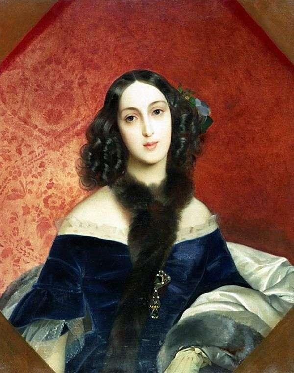 M. A. Beck   Karl Bryullovの肖像