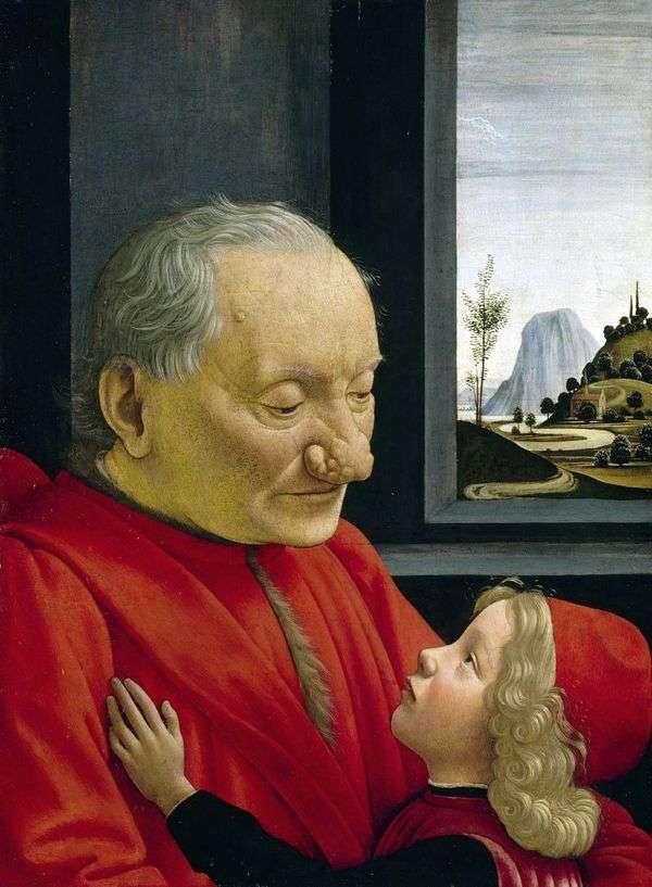 孫   ドメニコ・ジルランダイオと老人の肖像画