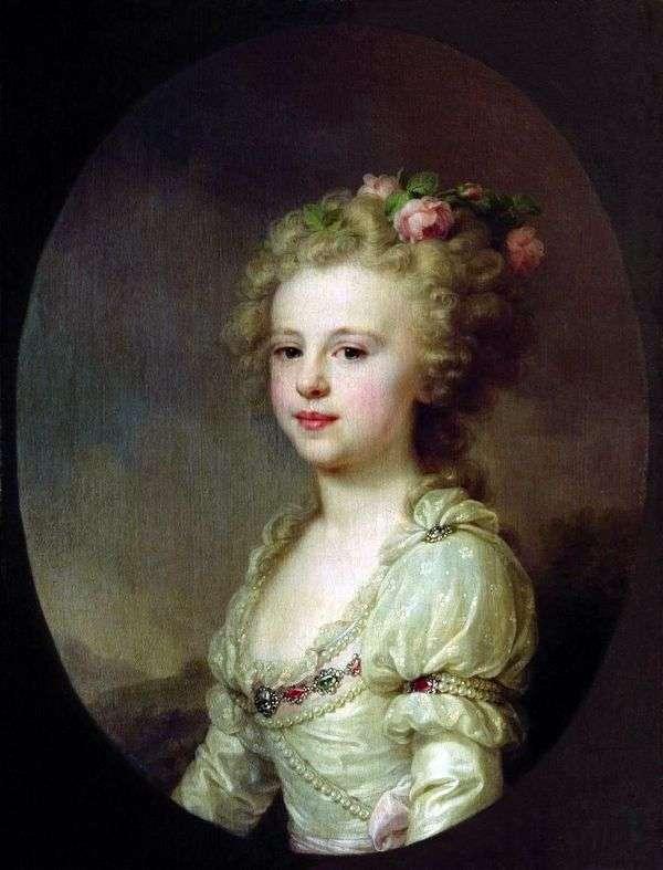 子供   ヨハンバプテストランピとして大公妃アレクサンドラパブロフナの肖像