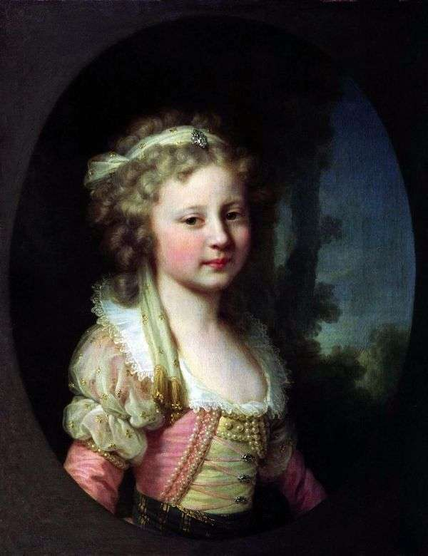 子   ヨハンバプテストランピとして大公公爵エレナパヴロフナの肖像