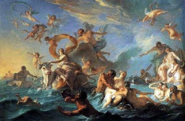 ヨーロッパの拉致   Giovanni Battista Tiepolo