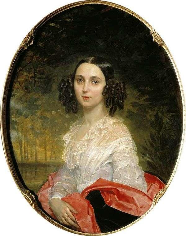 M. I. Alekseeva   Karl Bryullovの肖像