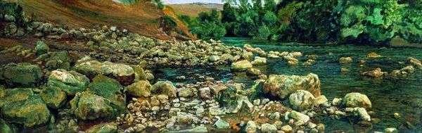 ヴィコバラの麓。川沿いの石   アレクサンドル・イワノフ