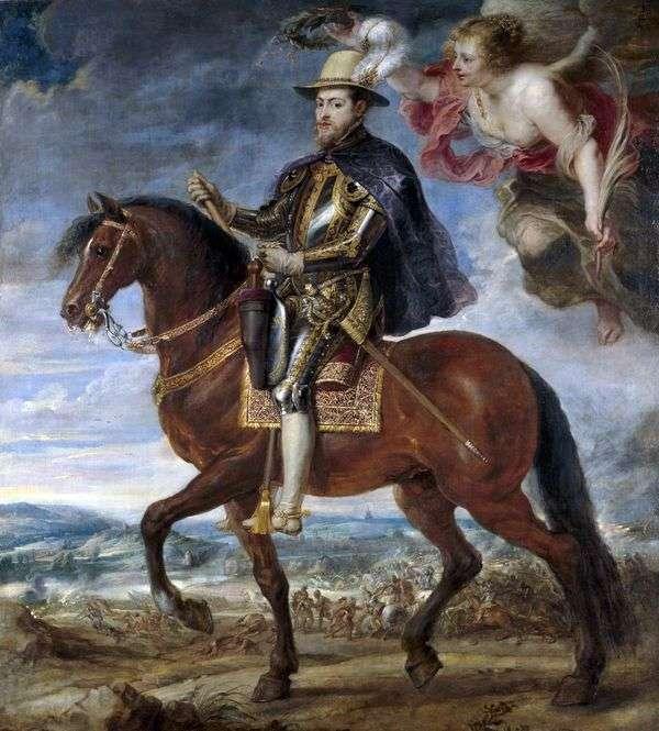 フィリップ2世の馬術の肖像   Peter Rubens