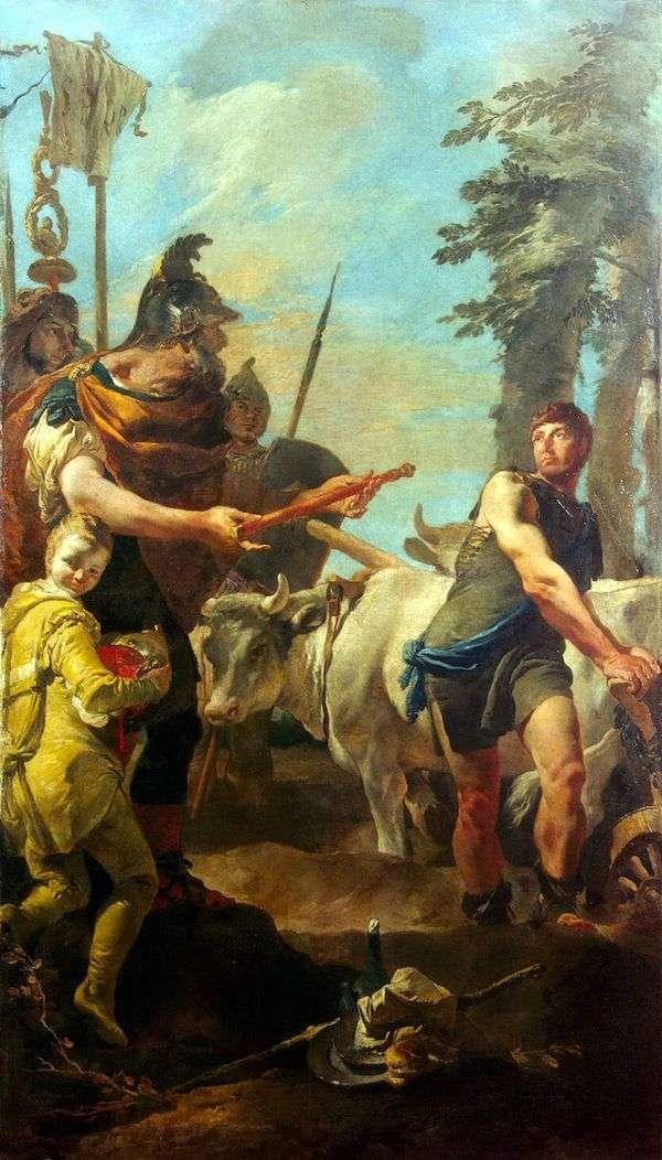 独裁者の力でCincinnatusを呼び出す   Giovanni Battista Tiepolo