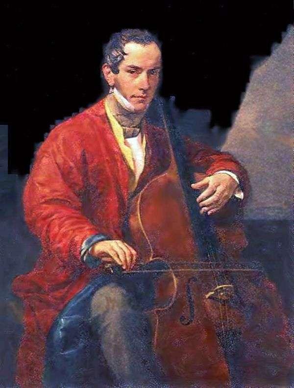 M. Yu。Vielgorsky   Karl Bryullovの肖像画