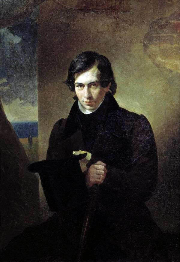 N. V. Kukolnik   Karl Bryullovの肖像画