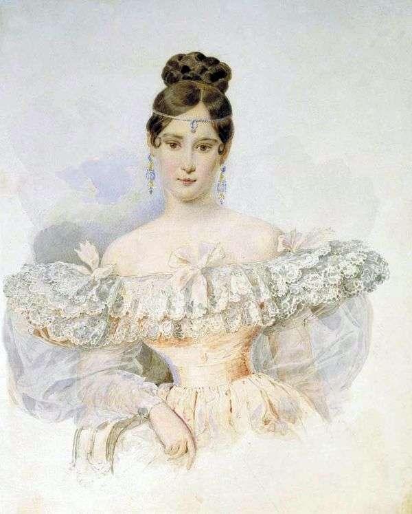 N. N. Goncharova   Karl Bryullovの肖像
