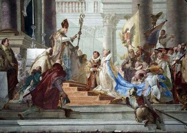 フリードリヒ・バルバロッサとブルゴーニュのベアトリスの結婚式   Giovanni Battista Tiepolo