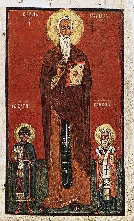 梯子の聖者ヨハネ、ジョージ、ブラジウス