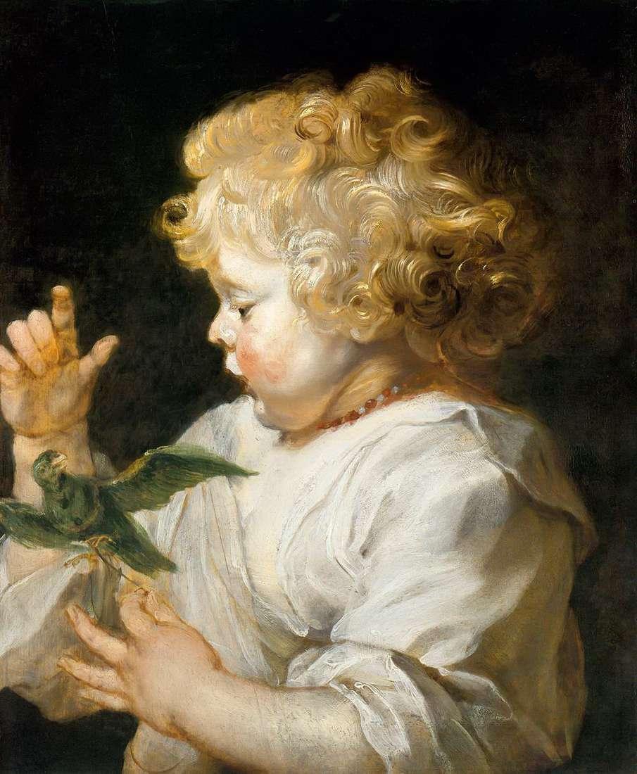 鳥を持つ少年   Peter Rubens