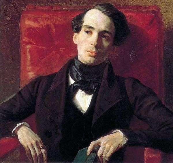 作家A. N. Strugovshchikov   Karl Bryullovの肖像画