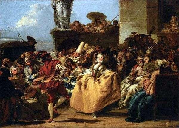 カーニバルシーン、またはメヌエット   Giovanni Domenico Tiepolo