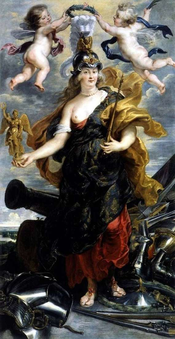 BellonaとしてのMaria Medici   Peter Rubens