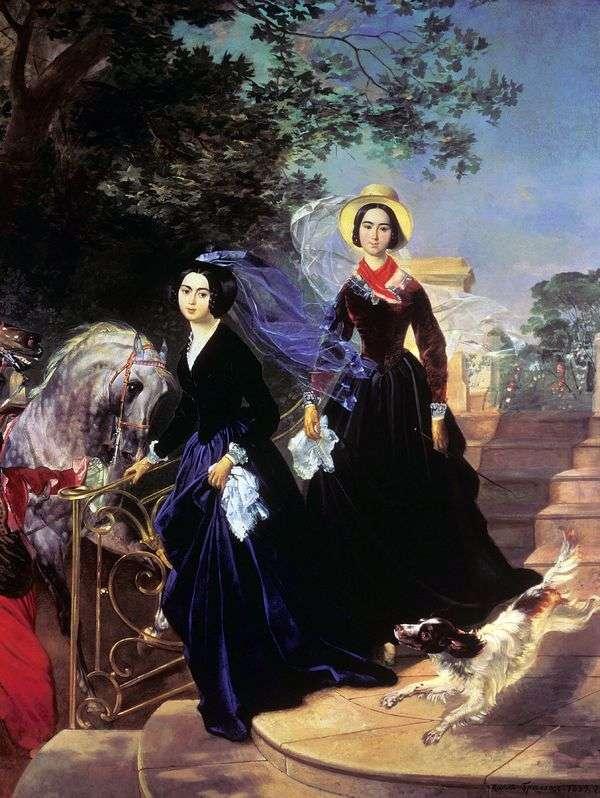 シシュマロフ姉妹の肖像   Karl Bryullov