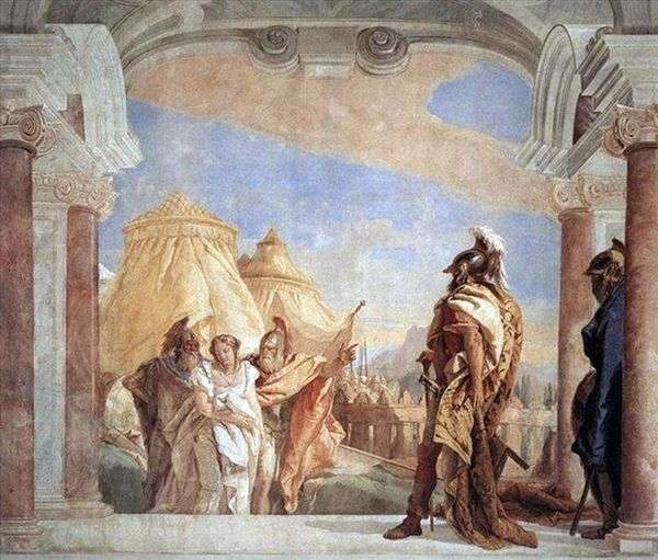 EvribatとTalfibiがBriseisをアガメムノンに導く   Giovanni Battista Tiepolo