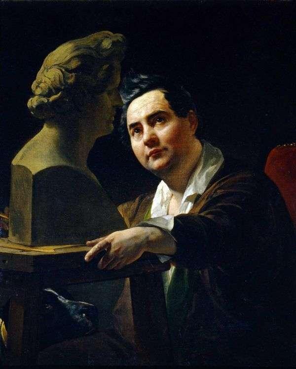 彫刻家I. P. Vitali   Karl Bryullovの肖像画