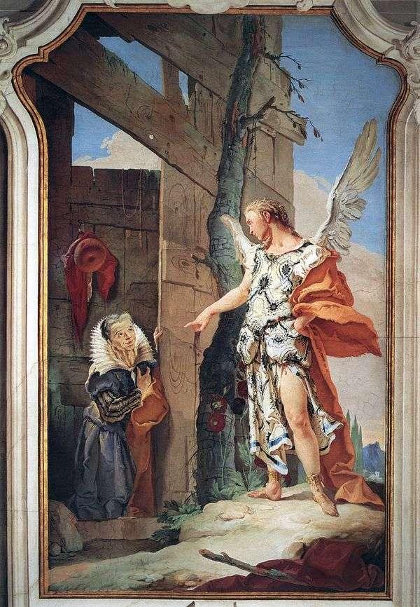 天使サラの登場   Giovanni Battista Tiepolo