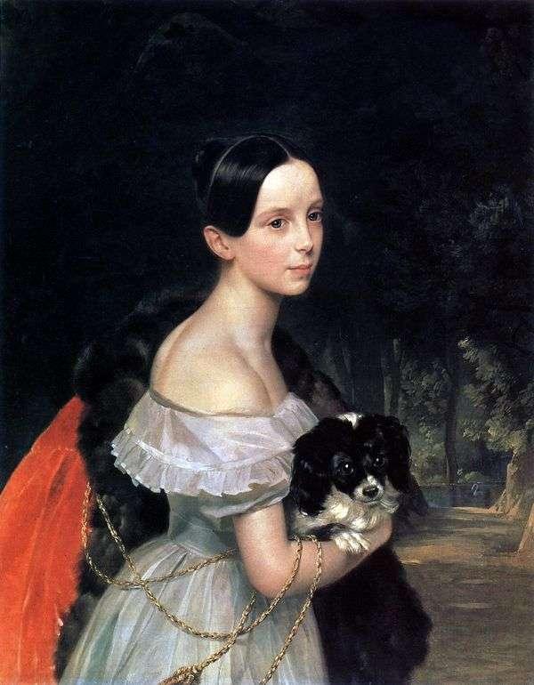 W. M. Smirnova   Karl Bryullovの肖像