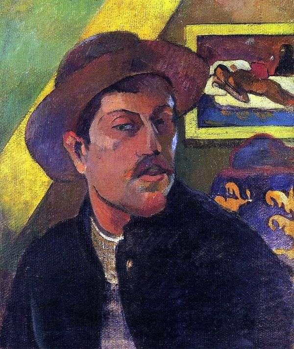 帽子の自画像   ポール・ゴーギャン