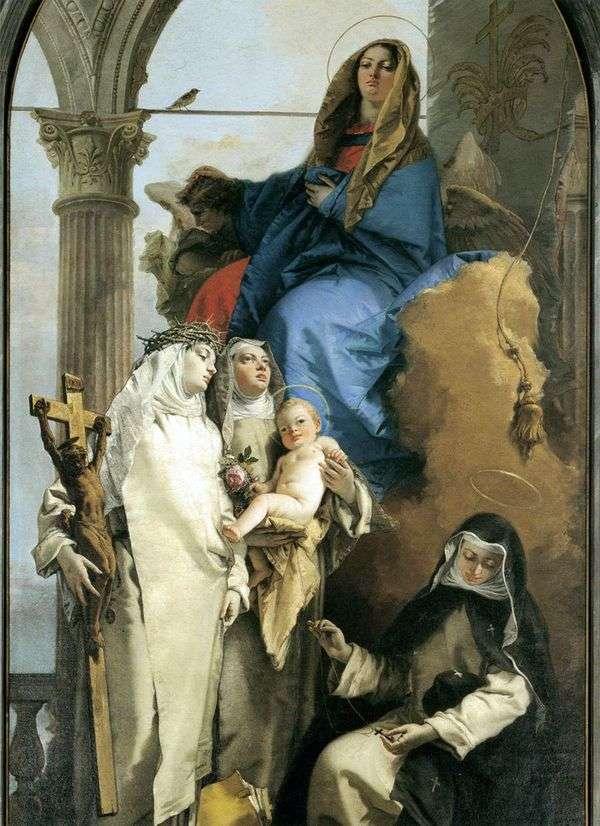 ドミニカ共和国の聖人による聖母の出現   Giovanni Battista Tiepolo
