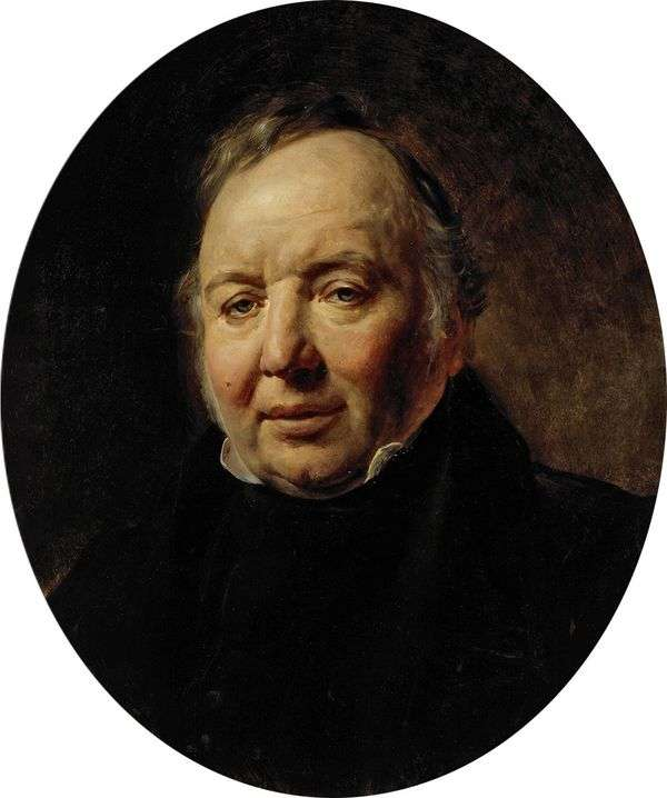 Francesco Ascani   Karl Brullovの肖像画
