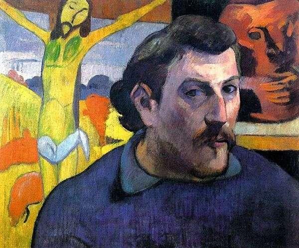 黄色いキリストとの自画像   ポール・ゴーギャン