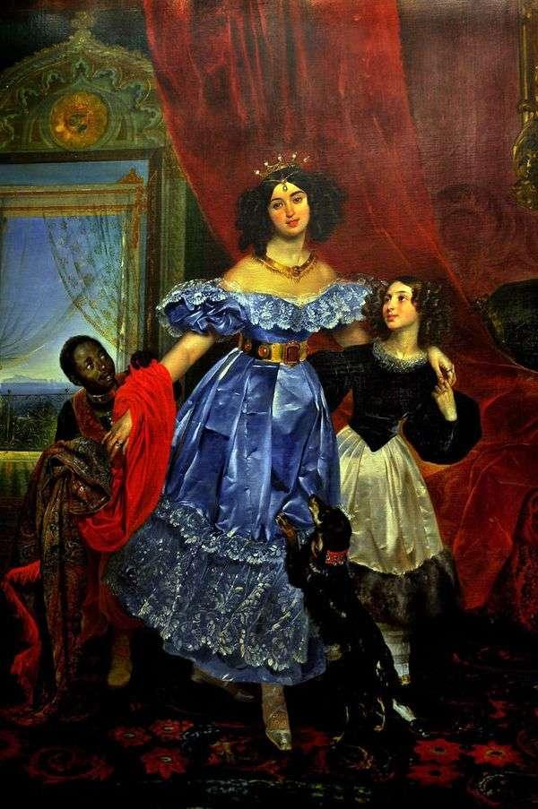 Dzhovanina Paciniとarapchonk   カールBryullovとYu。P Samoilovaの肖像画