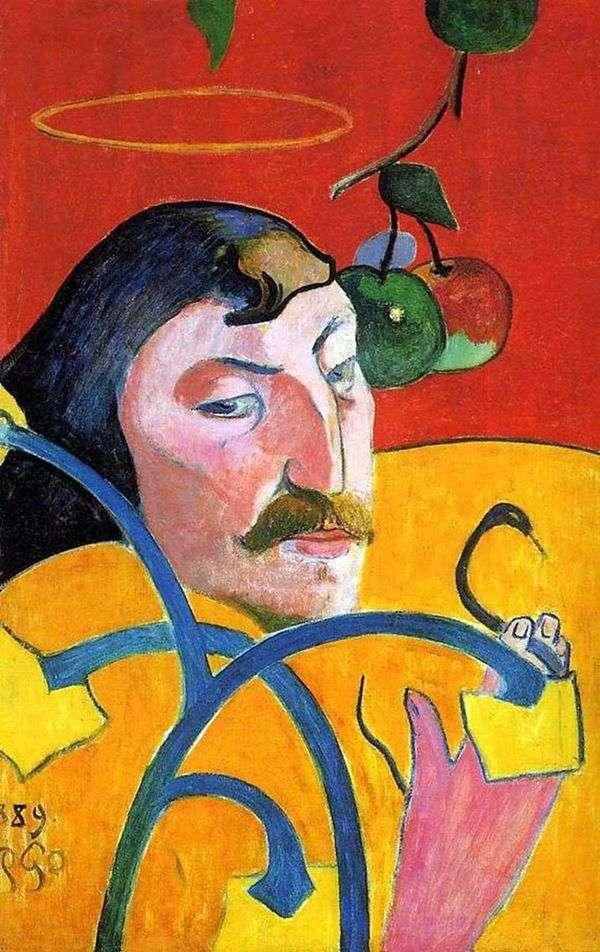ハローのある自画像(セルフグロテスク)   Paul Gauguin