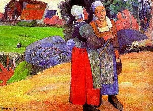 ブルトンの農民の女性   Paul Gauguin