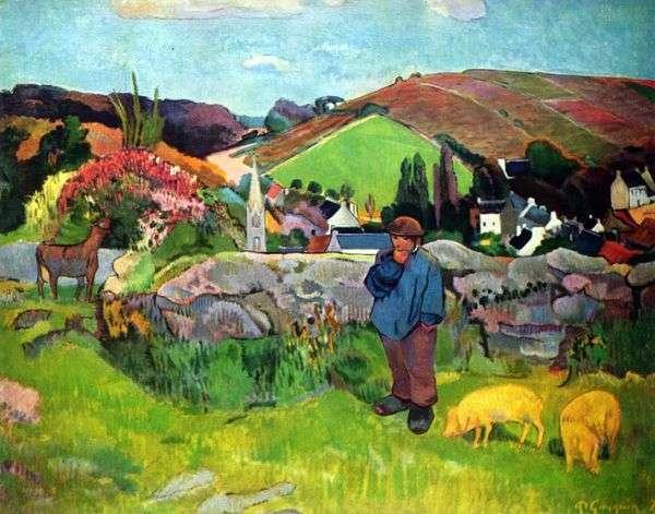 豚飼育   Paul Gauguinとブルトンの風景
