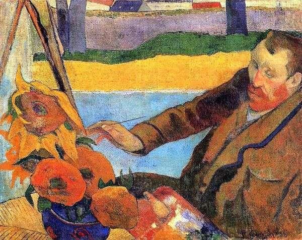 ゴッホはひまわりを塗る(Vincent Van Goghの肖像)   Paul Gauguin