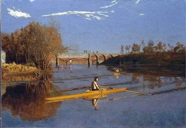 ボートに乗ってマックス・シュミット   Thomas Eakins