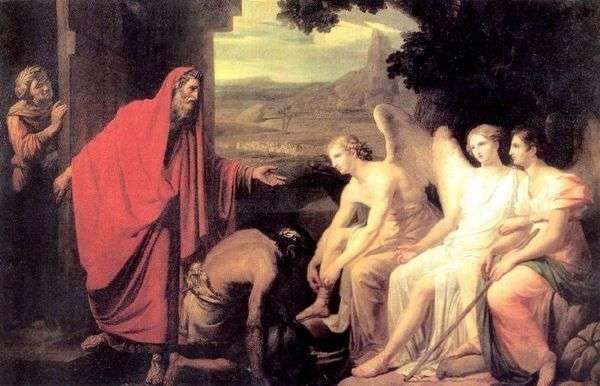 Mambrea   Karl Bryullovのカシによるアブラハムへの3人の天使の出現