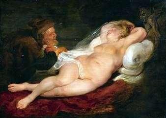 隠者と眠っているアンジェリカ   Peter Rubens